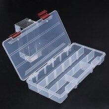 Durable 5 Compartments Transparent Visible Plastic Fishing T