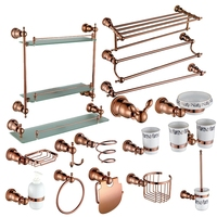 Brass Copper High quality 17PCS/Set bathroom ware Bathroom hardware accessories Set