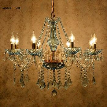 Kronleuchter Im Verkauf | Moderne Kristall Kronleuchter Küche Schlafzimmer Lustre De Verkauf Esszimmer Glanz De Cristal Para Sala De Jantar Blau Farbe Kronleuchter