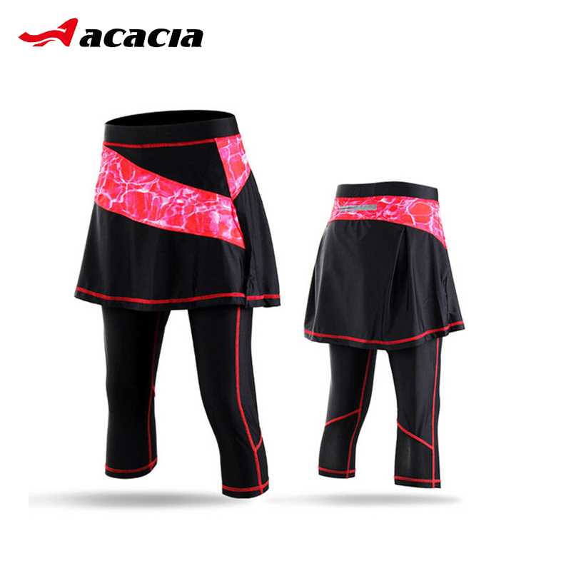 ACACIA Cycling Tights Breathable Ultralight Women Bicycle Bike Cropped Pants With Skirt Comfortable 3D Padded Female Seven Pants sandisk otg usb flash drive dd3 usb mini flash drive high speed 16gb 32gb 64gb 128gb pen drive memory micro usb stick usb 3 0