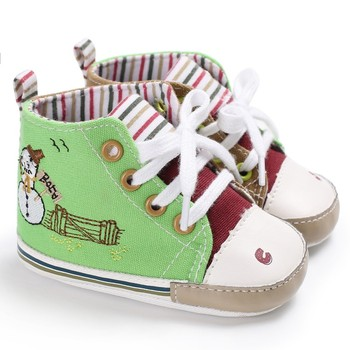 Spring Autumn Soft Soled Baby Shoes Toddler Newborn Boys Kids First Walkers Crib Shoes Lace-Up High Top Sports Sneakers Boots conjuntos casuales para niñas