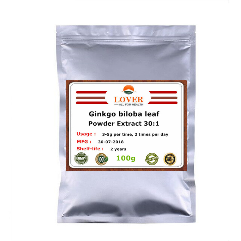 100-1000g Ginkgo Biloba Leaves Powder Extract 30:1,For Memorry and Brain Function Support,Help Cognitive Alzhermier's Diseases