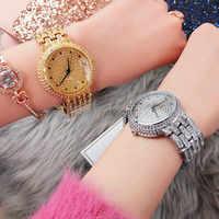 Ladies Dress Watches Rhinestone Watch Women Quartz Watch Stainless Steel Wristwatch Simple Designer Women Clock Relojes Mujer