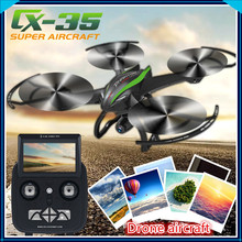 5.8G RTF RC drone cx-35 With 720P HD Camera One-key to take off one key return remote control rc Quadcopter with led light gifts
