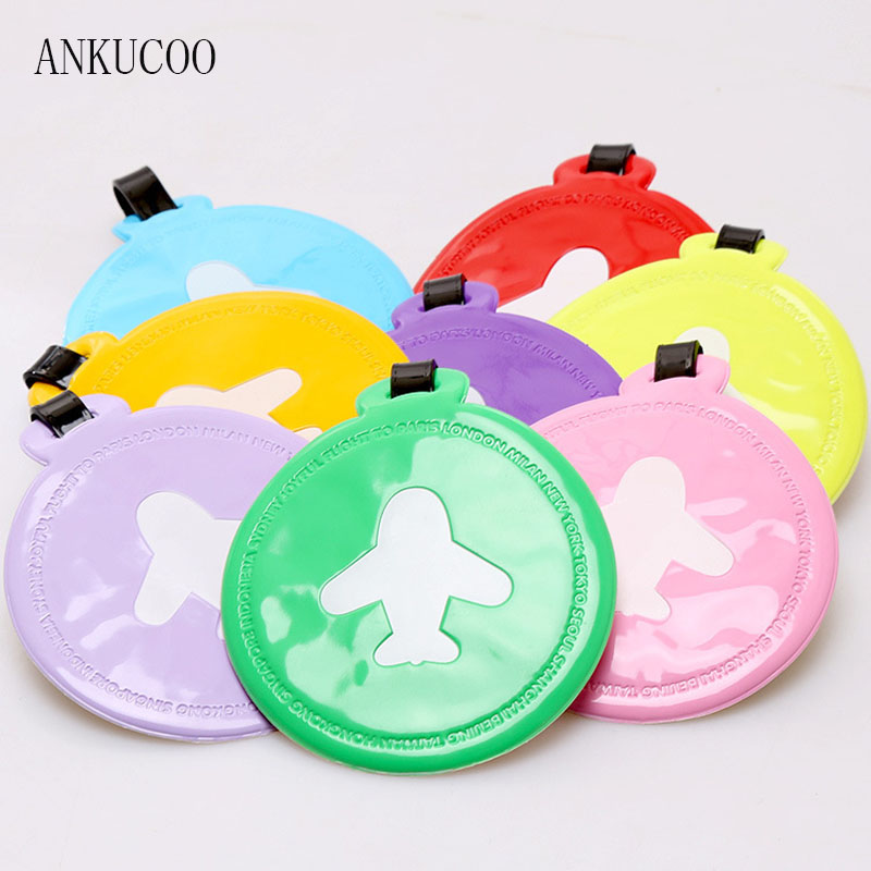 Creative AircraftTravel Accessories Luggage Tag Silica Gel Suitcase ID Addres Holder Baggage Boarding Tags Portable Label