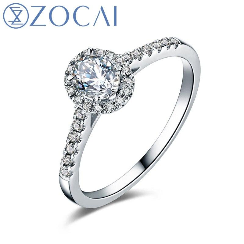 zocai wedding ring ct real oval cut diamond cluster. Black Bedroom Furniture Sets. Home Design Ideas