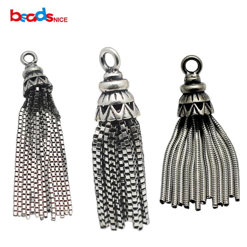 b0ab2d19a1d0 Beadsnice sólida plata 925 borla Amuletos Colgantes plata antigua colgante  para las mujeres collar largo pendiente personalizado id34956