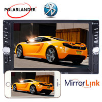 6.6 inch HD Car Radio With Rear Camera Mirror Link Screen Bluetooth 2Din Car Radio MP5 Player Mirror For Android Phone