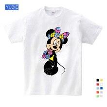 Cartoon children Mickey children T shirts mouse short sleeve T-shirt Donald Baby / boy / girl t summer shirt o-Neck shirt 3T-9 T donald weis t t solo rules