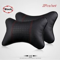 Hot Selling For BMW For Benz Car Headrest / Neck Pillow Cushion for Vehicle / Car Cowhide Seat Pillow / Genuine Leather Headrest