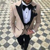 2018 3 предмета Для мужчин костюмы Slim Fit смокинг для жениха best женихов Для мужчин Свадебный костюм Для мужчин костюмы (куртка + pent + жилет)