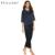 Ekouaer cetim sleepwear mulheres pijama define primavera com decote em v pullover sleepwear com calças de pijama feminino tamanho s ao xxl loungewear