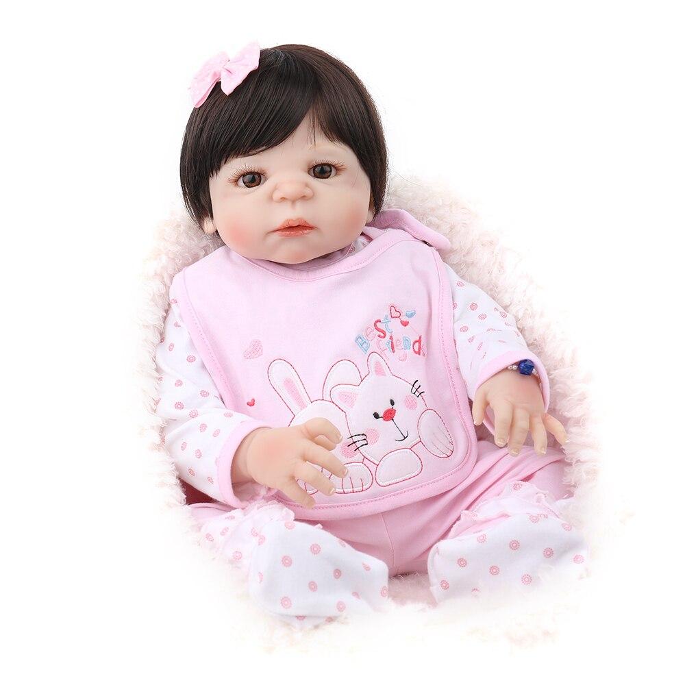 Reborn Puppe Lebensechte Newborn Baby Realistische Prinzessin Mädchen Babe Boneca Schöne Kinder Playmate Weihnachten Geschenk 22 inch Weiche NPKDOLL-in Puppen aus Spielzeug und Hobbys bei AliExpress - 11.11_Doppel-11Tag der Singles 1