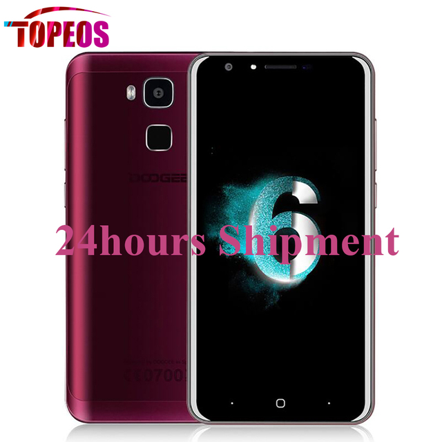 Doogee Y6 Agate Red/White 5.5Inch MTK6750 Octa Core 1.5Ghz 2GB RAM 16GB ROM 13MP 3200mAh 4G LTE Fingerprint Mobile Phone