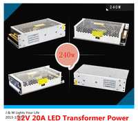 High Power 240W Switching Power Supply,100~240V AC to DC12V 20A Output Transformer Driver for LED Strip SMD 3528 5050! 1pcs/lot