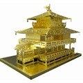 3D Metallic Nano Enigma Pavilhão Dourado Japão Modelo de Construção 3D Jigsaw Brinquedos de Aço Cortado A Laser Para Audi