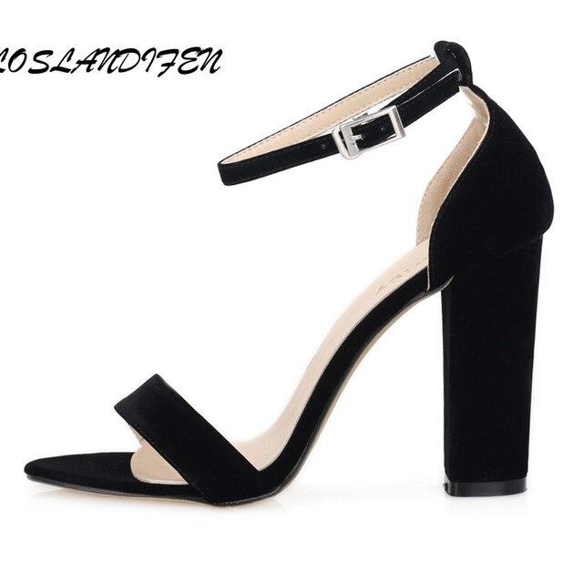 Новейшие женские ботинки с открытым носком Туфли на высоких каблуках с  ремешком на щиколотке летние женские 4ca5aceaa3b81