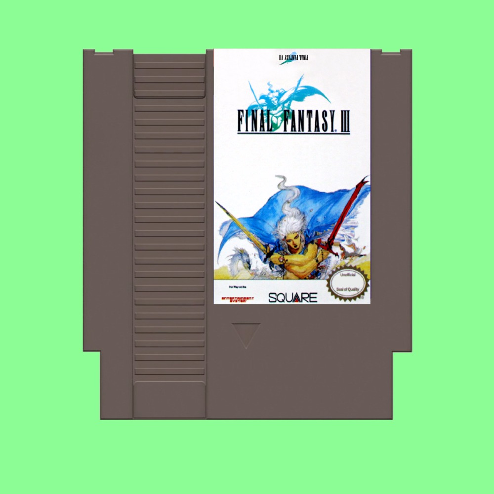 Best Sale Final fantasy III Game Card For 72 Pin 8 Bit Game Player