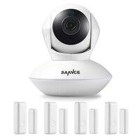 SANNCE 915 MHz Wireless Security Alarm 1 720 P IP Kamera + 4 Tür Sensoren Wi-Fi Netzwerk Defender Baby Monitor Überwachungskamera