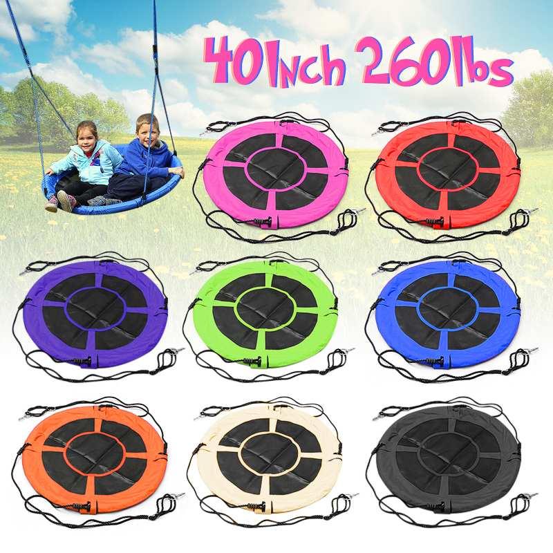 100 cm/40 ''8 couleurs bébé jouet balançoire grands enfants enfants grand siège rond capacité arbre balançoire chaise extérieure cour jouer équipement
