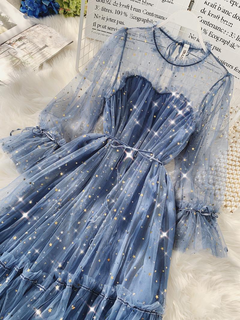 Gauze Two Piece Midi Dress 15