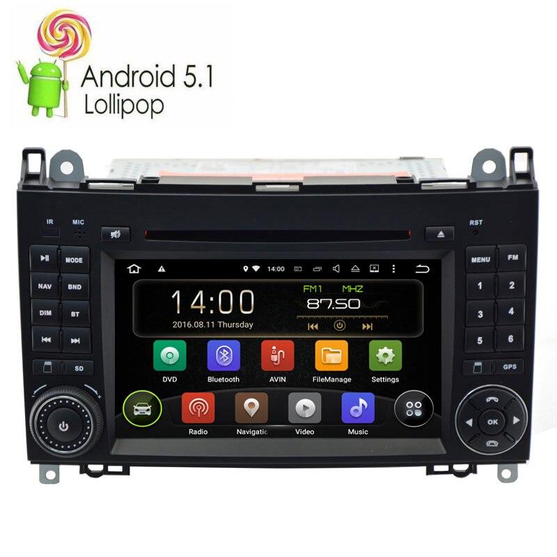 Lecteur DVD de voiture système Android 9.0 pour Mercedes/Benz/Sprinter/W209/W169/B200/classe A/W169/classe B/W245/B170 avec Radio GPS Navi