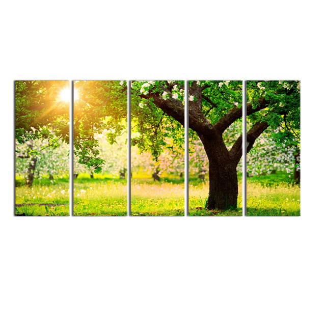 Visual Art Decor Blooming Spring Scenery Canvas Art Print Photo
