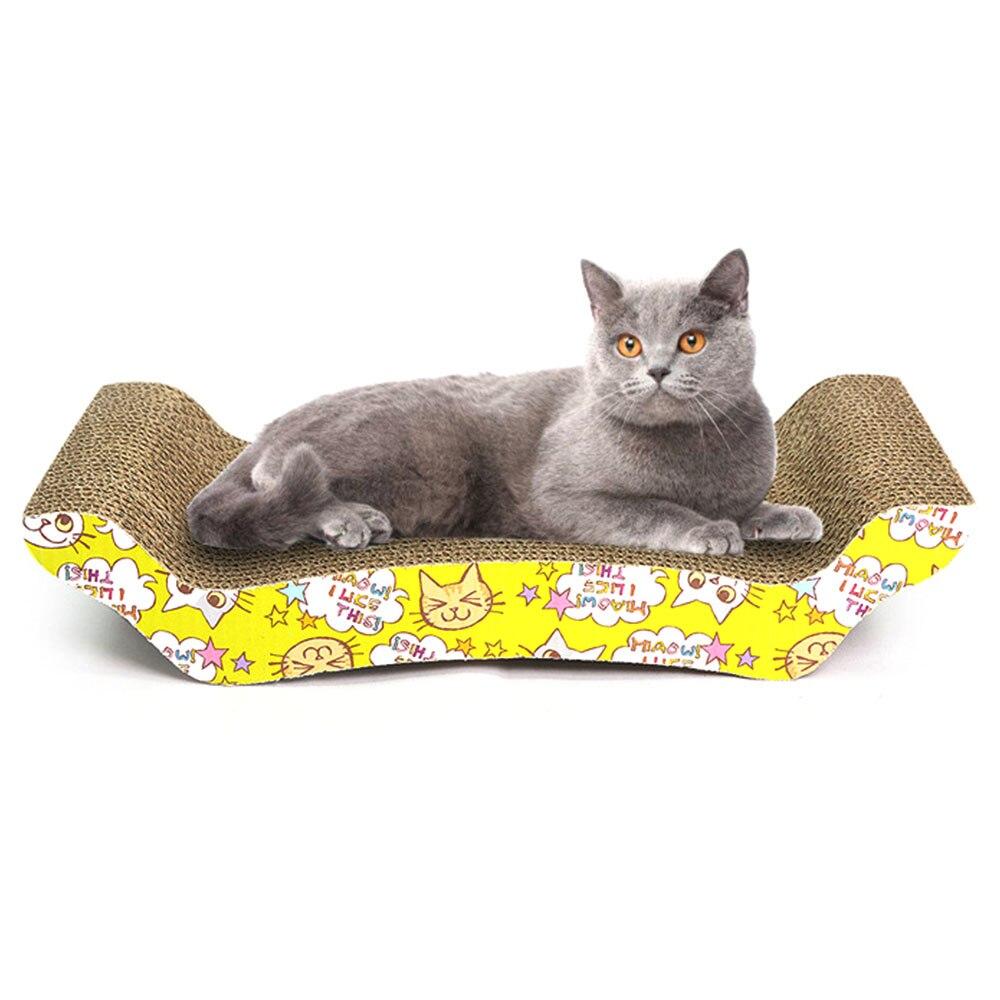 M forma gato brinquedos almofada de placa de risco gato coçar posts gatinho ondulado almofada de papel gatos moagem raspador de unhas esteira colchão