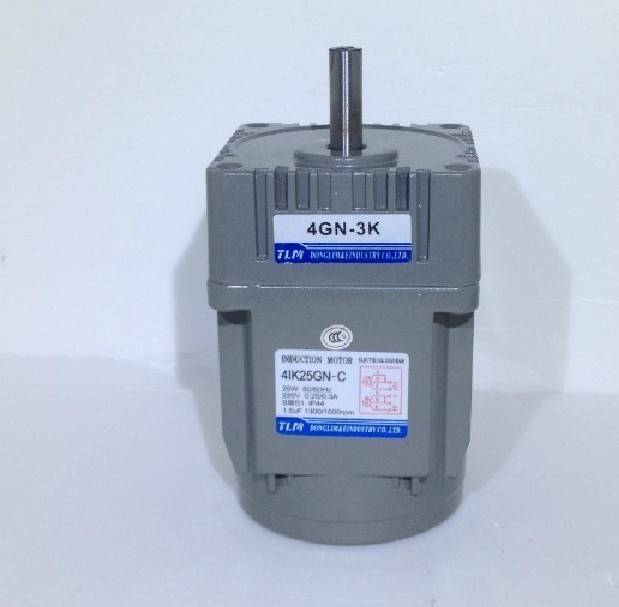 New Gear Motor /gearbox motor 4IK25GN-C in 220 VAC out Power 25W reduction ratio 1:10 have18 kind can choose Vertical AC motor japanese oriental motor om motor 4ik25gn sw2l replace the old model 4ik25gn sw2l