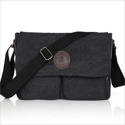 Men's Vintage Casual Canvas Shoulder Bags Messenger Man Satchel Boy School Book Bag Rucksack 6