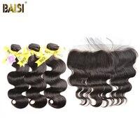 BAISI Haar Europäischen Reine Haarkörperwelle 100% Unverarbeitetes Menschenhaar 10-28 zoll, 3 Bundles und 13x4 Frontal, freies Verschiffen