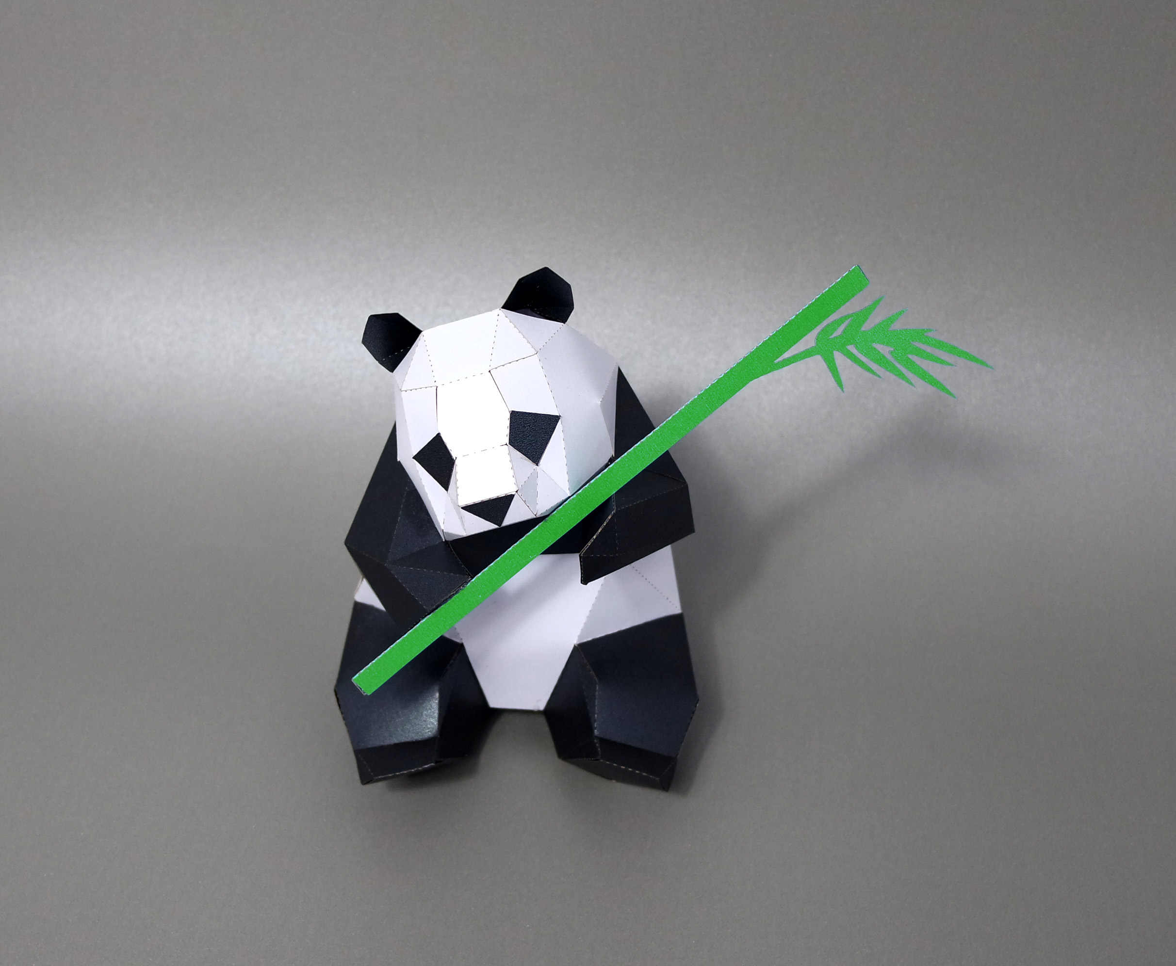 3D Panda And Bamboo Animal Living Room Book Shelf Home Decor Home Art DIY Hand Made Paper Craft Model Party Gift
