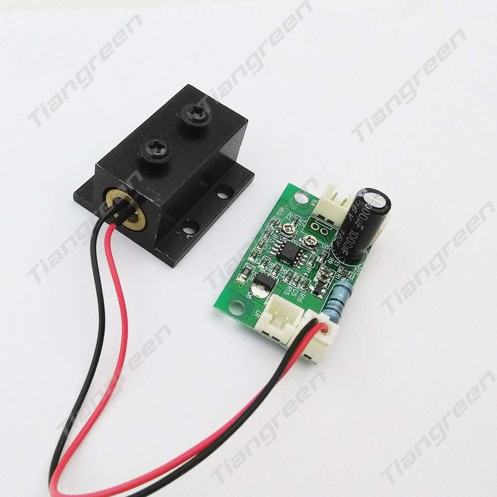 532nm 200mW Green Laser Module with Driver Board DC5V Input TTL Driver Laser Diode Heat sink usb to ttl updating board module green silver black