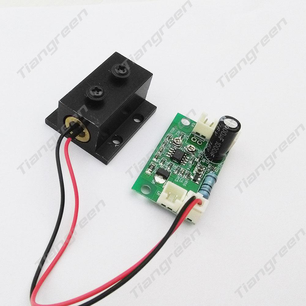 532nm 200mW Green Laser Module with Driver Board DC5V Input TTL Driver Laser Diode Heat sink good price free shipping 80mw 532nm green laser diode module with tt30k