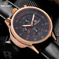 MEGIR Men's Casual Watch Chronograph & 3D Engraved Dial 24 Hours Function Waterproof Military Sport Watch for Man MG3005