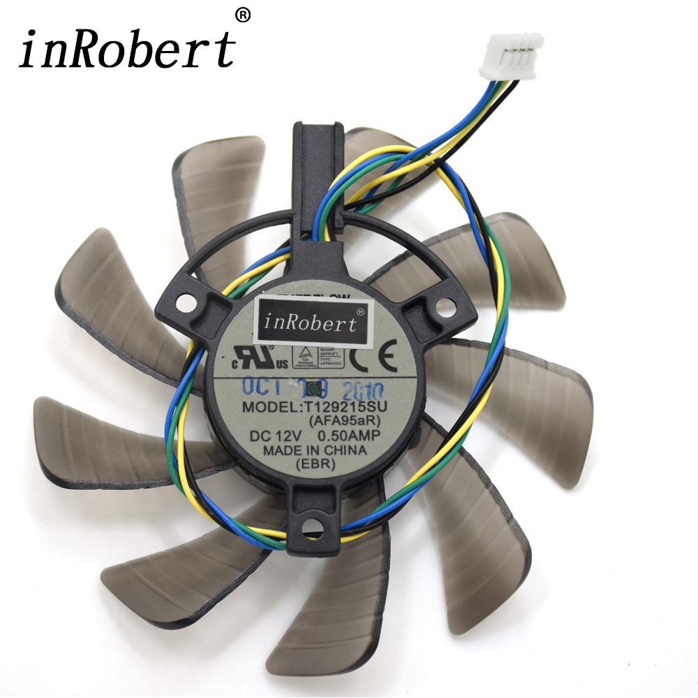Everflow 85MM T129215SU 4Pin Cooling Fan Replace For ASUS GTX 460 HD 6790 6870 Gigabyte GTX 1060 Graphics Card Cooler Fans DIY