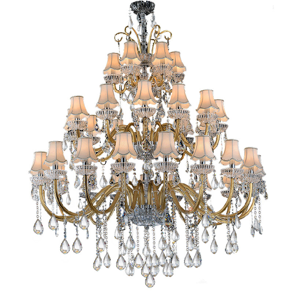 90956fc1ea77 Click here to Buy Now!! Luxury Large Chandelier Modern Sanctuary hall  chandeliers with shade hotel Hall Complex Staircase Lighting Chandelier  Large Lamp