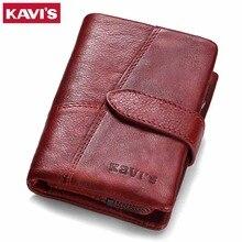 Kavis 2020 couro genuíno das mulheres carteira e bolsas bolsa de moeda feminina pequena portomonee rfid walet senhora perse para meninas saco de dinheiro