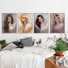 BLACKPINK Jennie Jisoo Lisa Rose Kpop ulzzang 2019 Home living Room Bedroom Decor Print Poster Picture Painting Wall Art Canvas