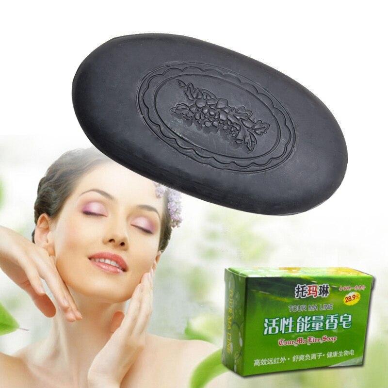 54g Bamboo Charcoal Tourmaline Soap Whitening Moisturizing For Women Face Hand Body Skin Care Soap Makeup