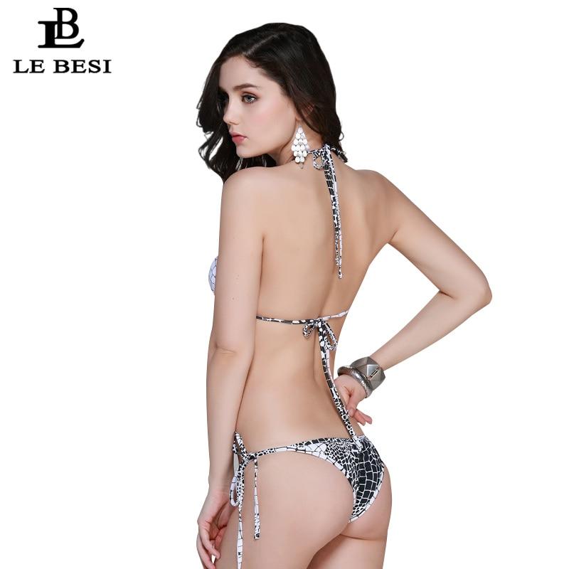 LEBESI 2017 Neue Sexy Reine Farbe Frauen Bikinis Set Verband Biquini - Sportbekleidung und Accessoires - Foto 3