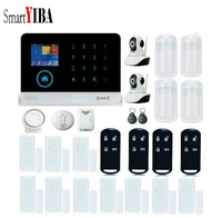 SmartYIBA WIFI GSM Wireless DIY Home And Business Security System Kit Video IP Camera Gas Fire