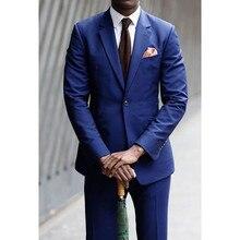 Trajes De Hombres De Vestir Fashion Grooms Tuxedos Notched Lapel Wedding Suits For Men Groomsmen Formal Slim Fit (jacket+pants)