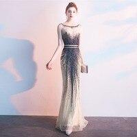 c3288206e5 Luxury Crystals Long Evening Dresses Formal Gown Sleeveless Mermaid Dress  CAZDZY. De Lujo cristales Larga Noche vestidos ...