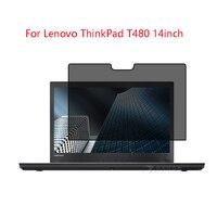 Lenovo ThinkPad için T480 14 inç dizüstü ekran ekran koruyucu Koruyucu Gizlilik Anti blu ray etkili koruma görüş