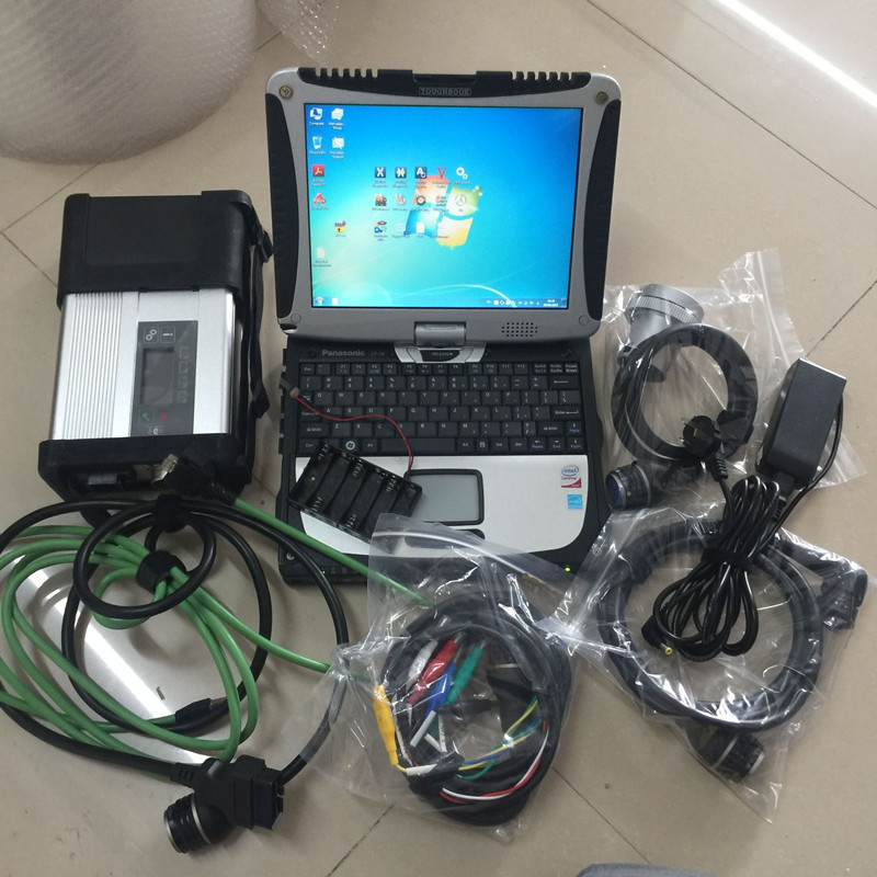 mb star c5 ssd super SD Conenct with laptop cf19 Toughbook diagnostic PC newest software 2019.07 car and truck diagnosis wifi