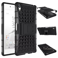For Sony Xperia Z5 Mini Compact Case 4 6inch Hybrid Kickstand Rugged Rubber Armor Hard PC