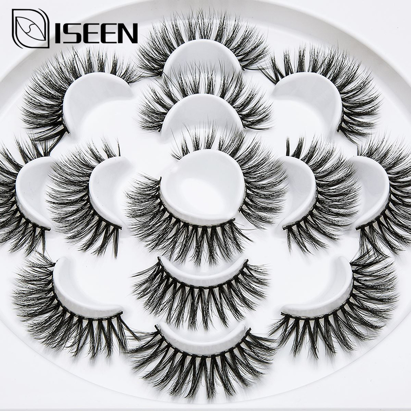 Beauty Essentials Generous 7pairs 25mm 3d Mink False Eyelashes Beautiful Flower Shape High Quality Lashes Natural Crisscross Eyelash Extension Faux Cils Beneficial To Essential Medulla Beauty & Health