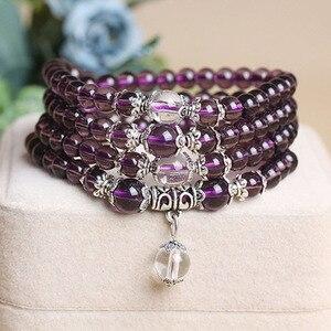Image 5 -   Fine Jewelry Hot sale! 6mm Crystal Stone 108 Prayer Beads Mala Bracelet Necklace