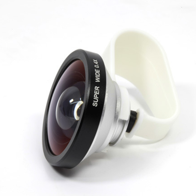 Universal Clip Clamp Mobile Cell Phone 0 4X Super Wide Angle Camera Lens For IPhone 5S